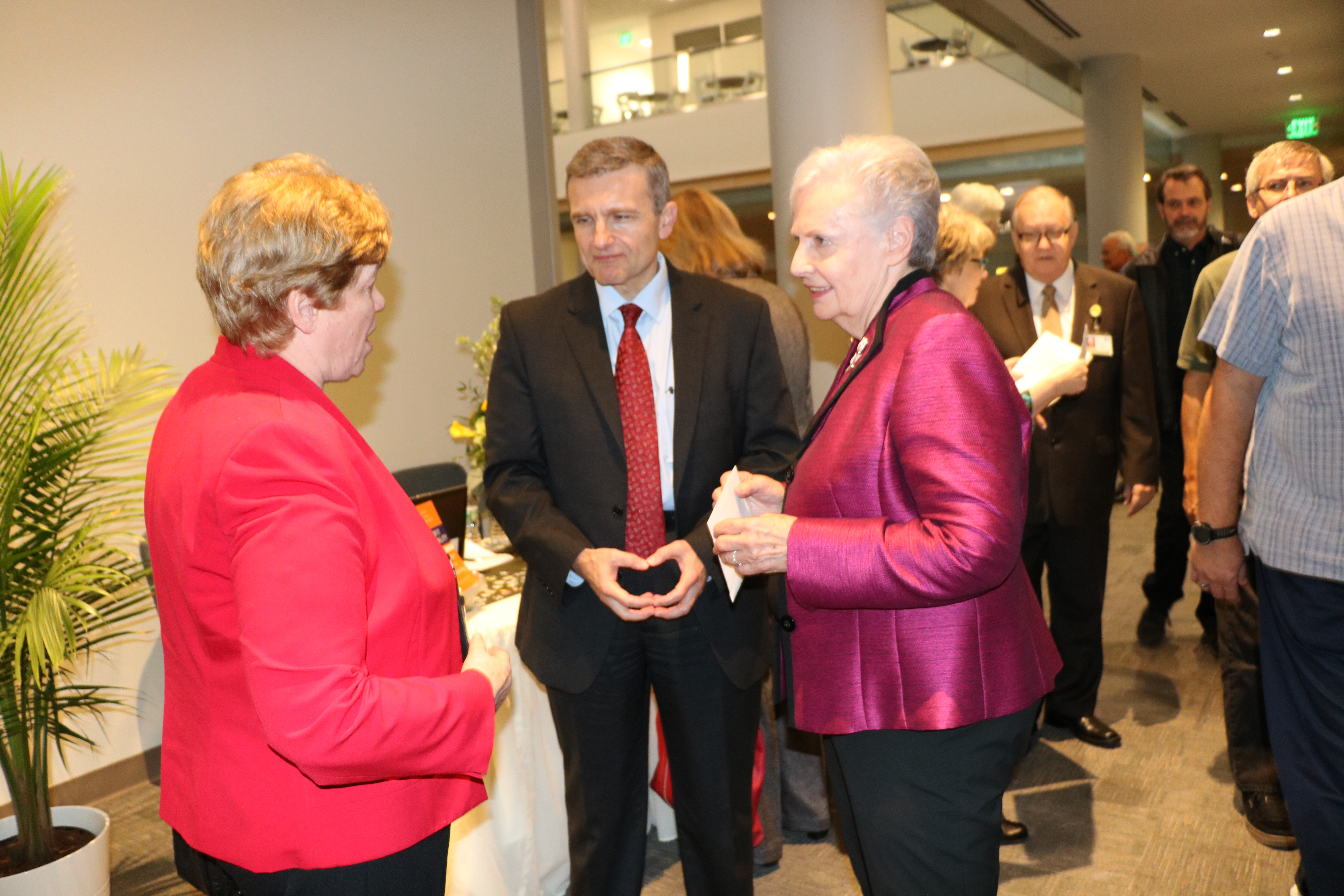 Dr. Wagner greeting our speaker Dr. Amir Pasic, Dean of the Lilly Family School of Philanthropy and our many guests.