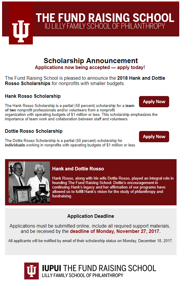 IUPUI scholarship
