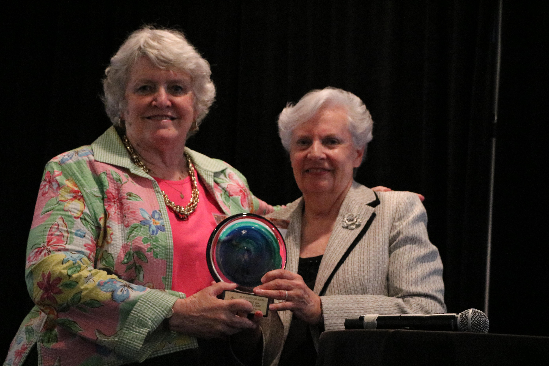 Lifetime achievement Award presented by Dr. Wagner to Abbie J. von Schlegell